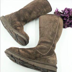 Ugg | Tall Chocolate Brown Zipper Booties